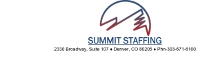 Summit Staffing Logo with Address